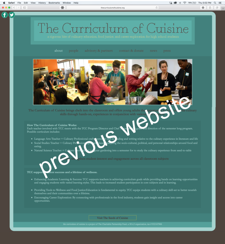 The Curriculum of Cuisine